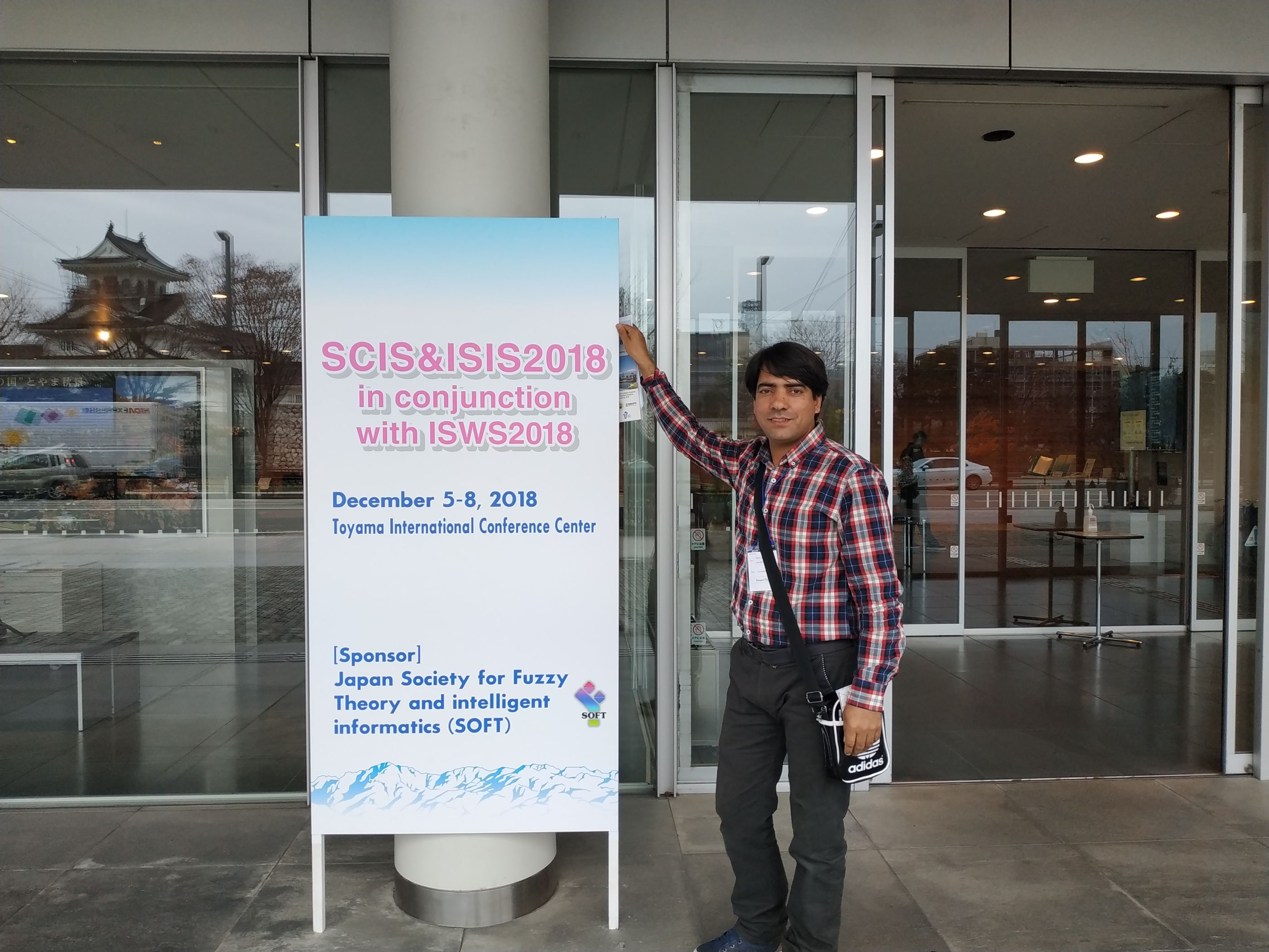 Dr. Rehman Ali posing for a  photo prior to start of joint 10th International Conference on SCIS & ISIS 2018 in Toyama, Japan