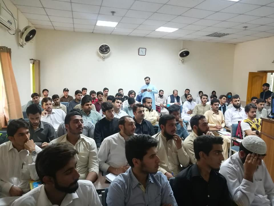 Photo of the students while attending the session