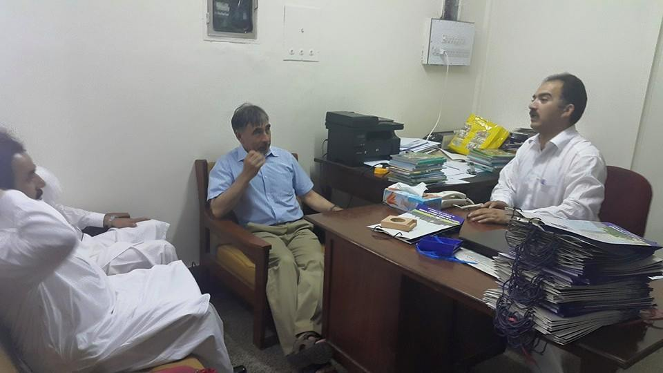 Dr. Jamil give briefing to VC about the Institute