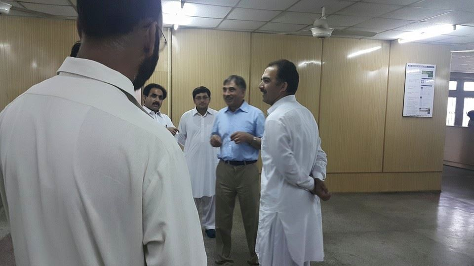 VC inquiring about the updates of the Institute