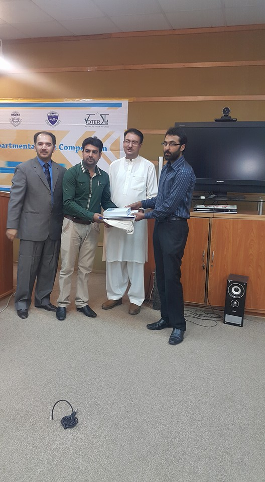 Mr. Zeeshan stand first in quiz competition