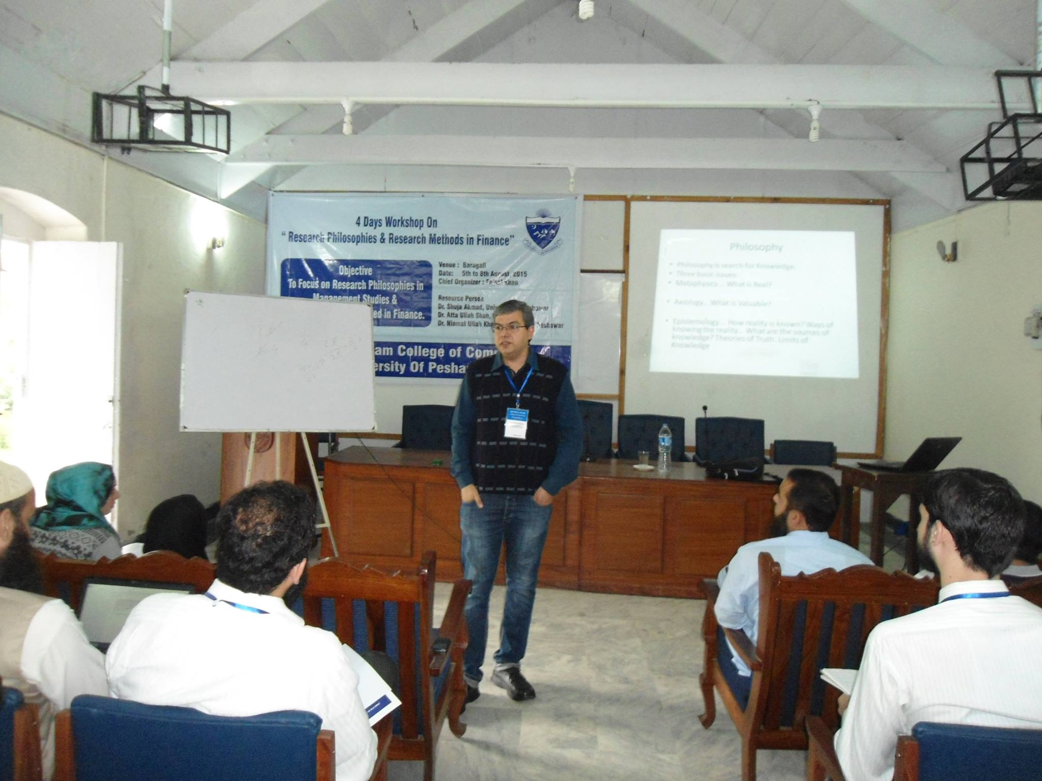 Dr. Shuja Ahmad during session