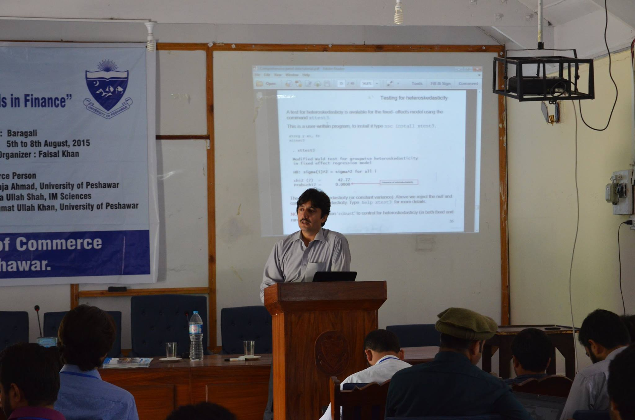 Dr. Atta Ullah Shah, during session