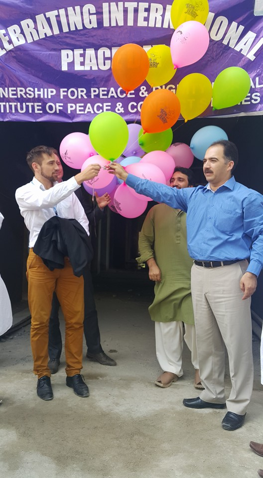 balloon released at under construction IPCS building on International Peace Day