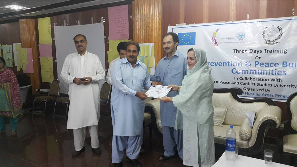 Certificate Distribution at Swabi by Prof. Dr. Noor Jahan VC Swabi University along with Dr. Jamil Director IPCS UoP