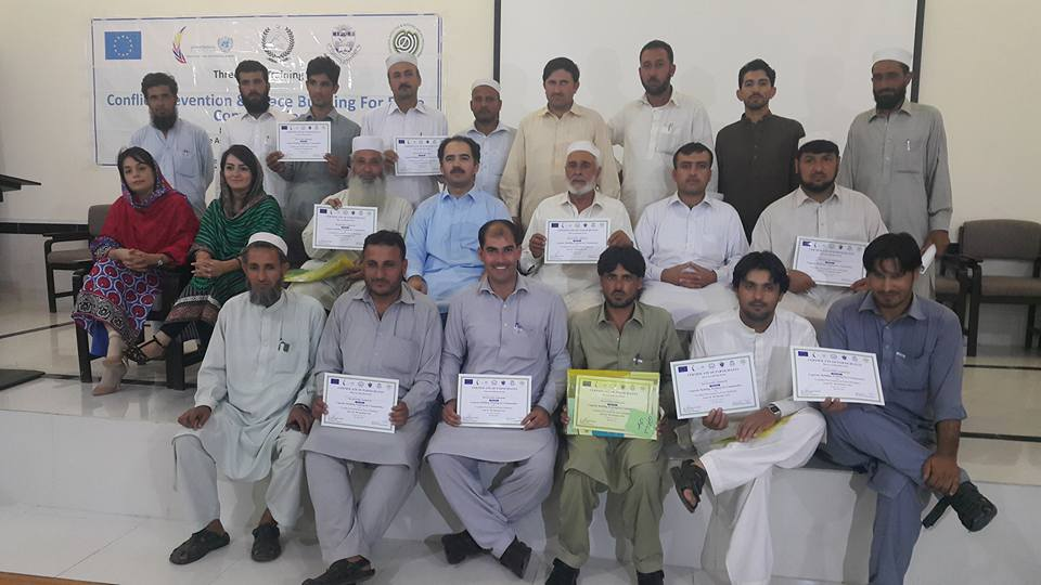 Group Photo with training participants display their certificates at Timmargara Campus,AWUM
