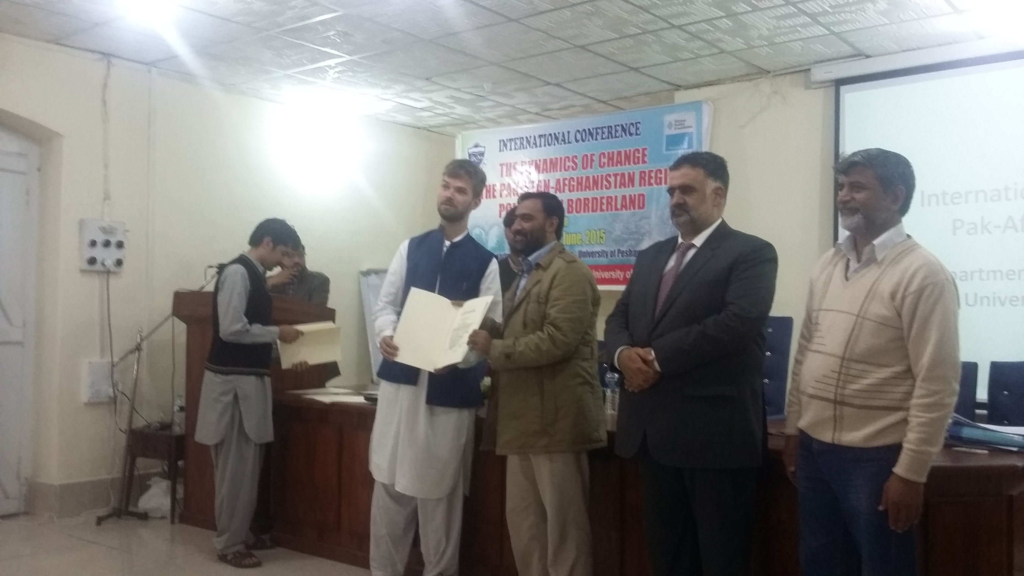 Mr. Bilal Shaukat receiving his certificate