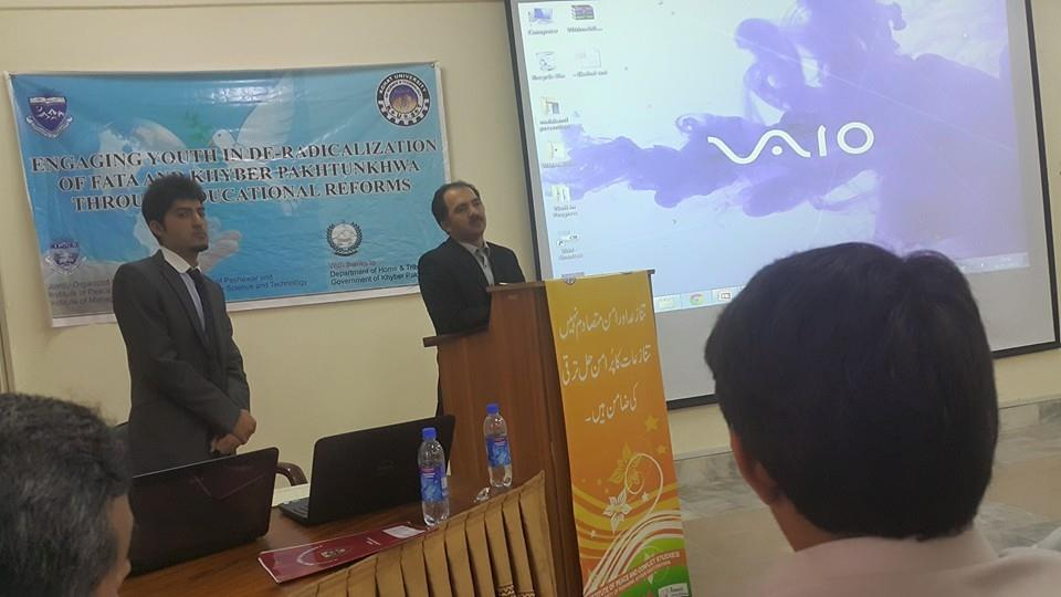 Dr Jamil Ahmad Director IPCS University of Peshawar delivering his lecture