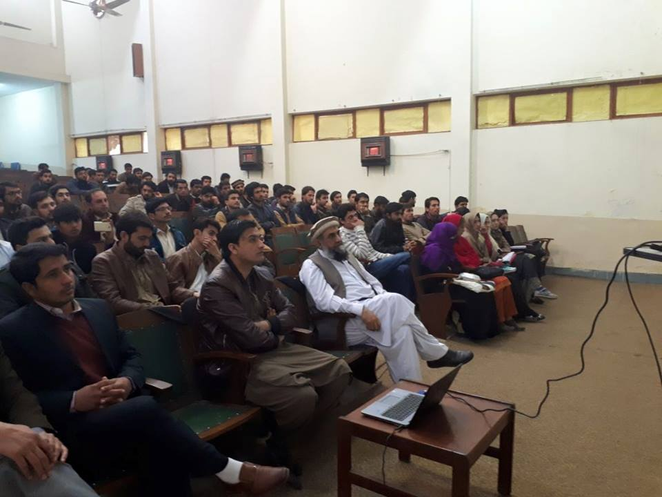 Faculty and students of QACC attending lecture on Financial Landscape of Pakistan