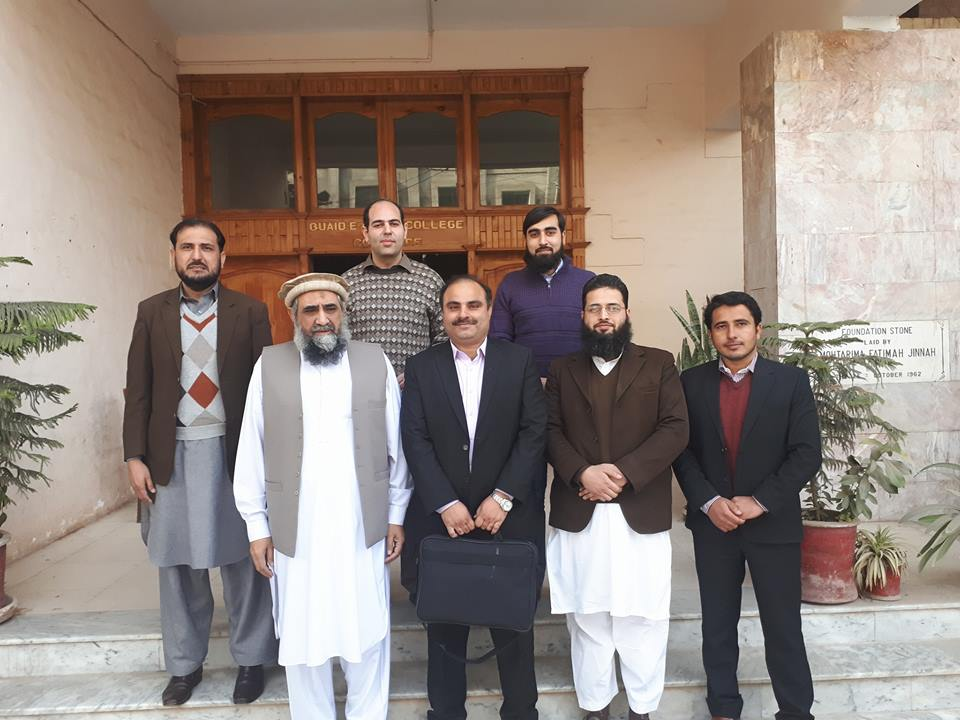 Group photo of faculty with Mr. Gulzar Khan, Deputy Directory, SBP after session