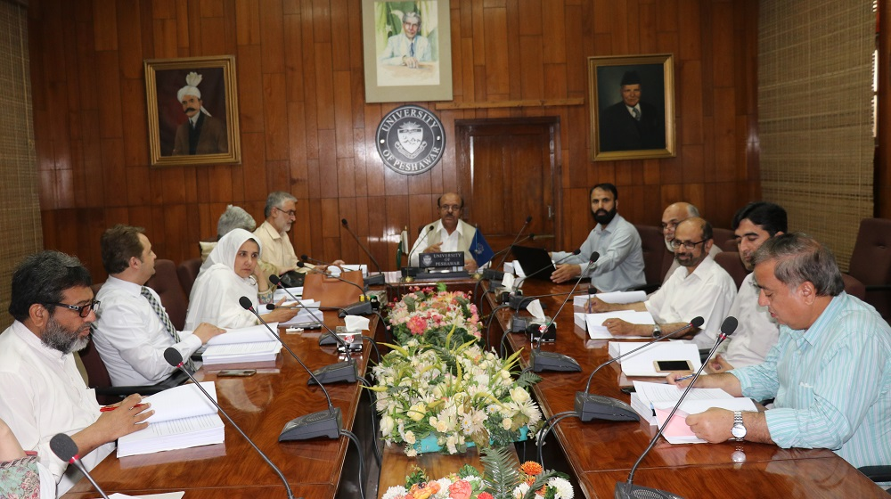 The Vice Chancellor University of Peshawar is supervising the  PhD dissertations proposals on 15th May,2019 at the meeting of 'Advanced Studies Research Board' that see the successful passage of 21 topics.