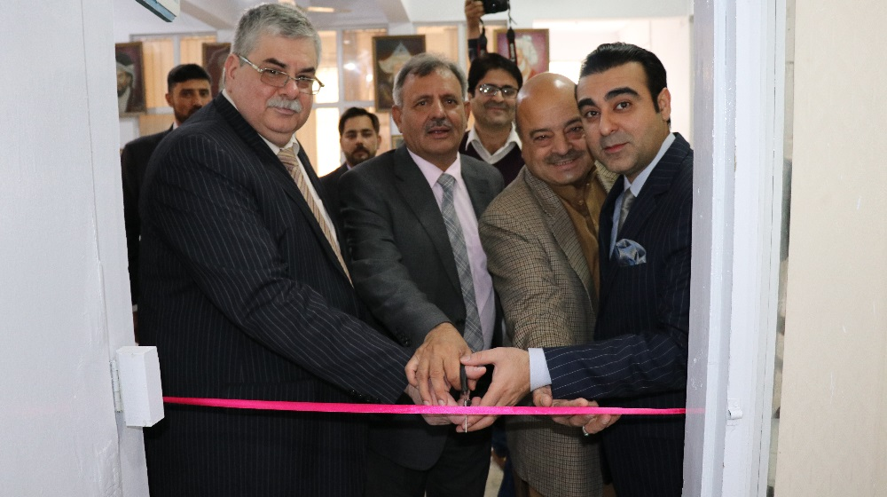 H.E.the Russian Federation ambassador to Pakistan  Alexey Y.Dedov along with Honorary Consular M. Arsallah Khan at Area Study Centre, University of Peshawar on the eve of 70 Years of diplomatic relationships between two countries