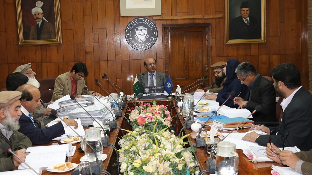 Vice Chancellor University of Peshawar Prof. Dr. Muhammad Asif Khan is chairing the Departmental Accounts Committee on 24th December, 2018 at committee room I to ensure transparency during the reconciliation process.