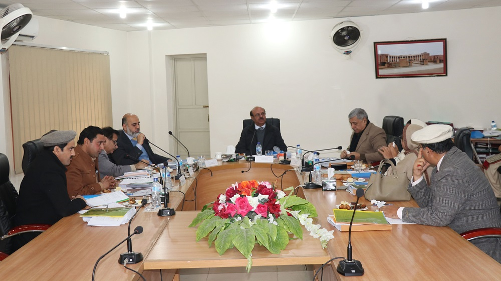Vice Chancellor University of Peshawar Prof.Dr.Muhammad Asif Khan is chairing the meeting of the board of governors at the National Centre of Excellence in Geology on 31st December, 2019.