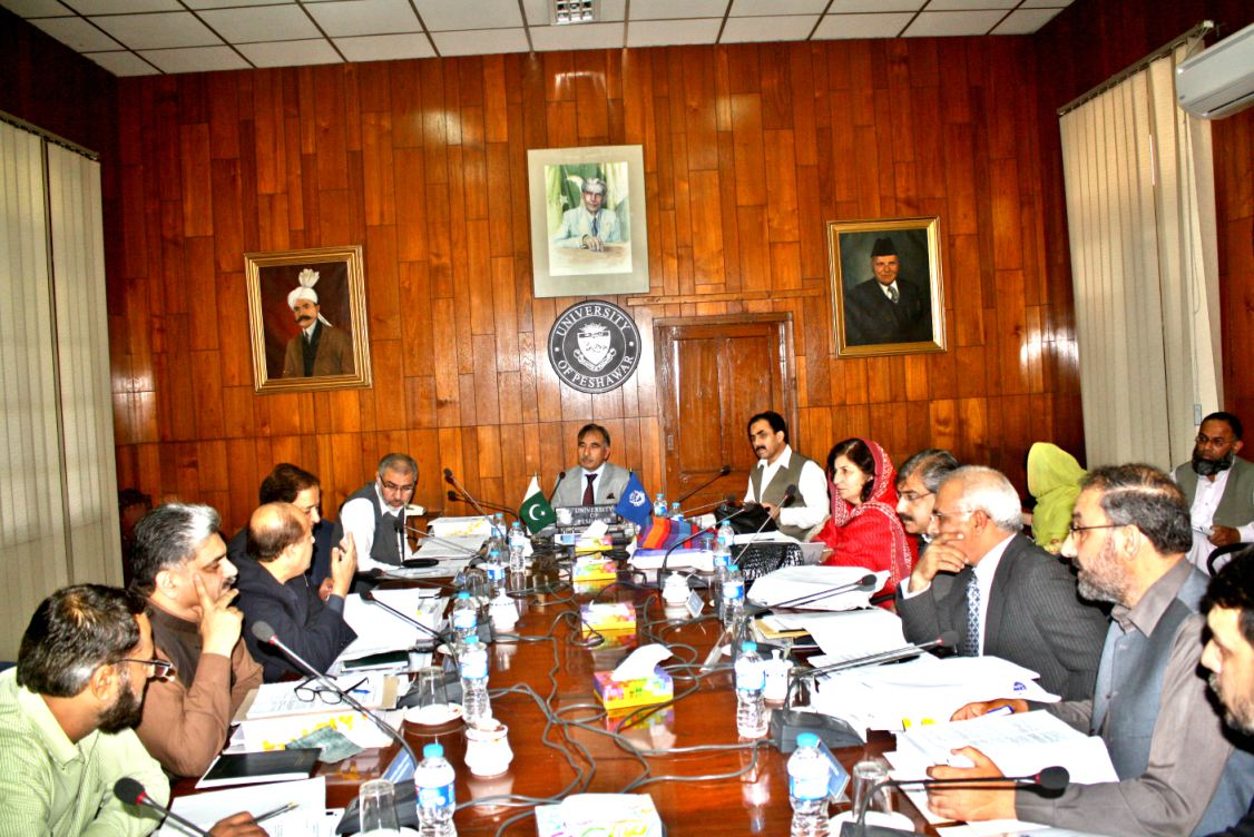 The 421st Meeting of the Syndicate held on October 29, 2015 at the University of Peshawar