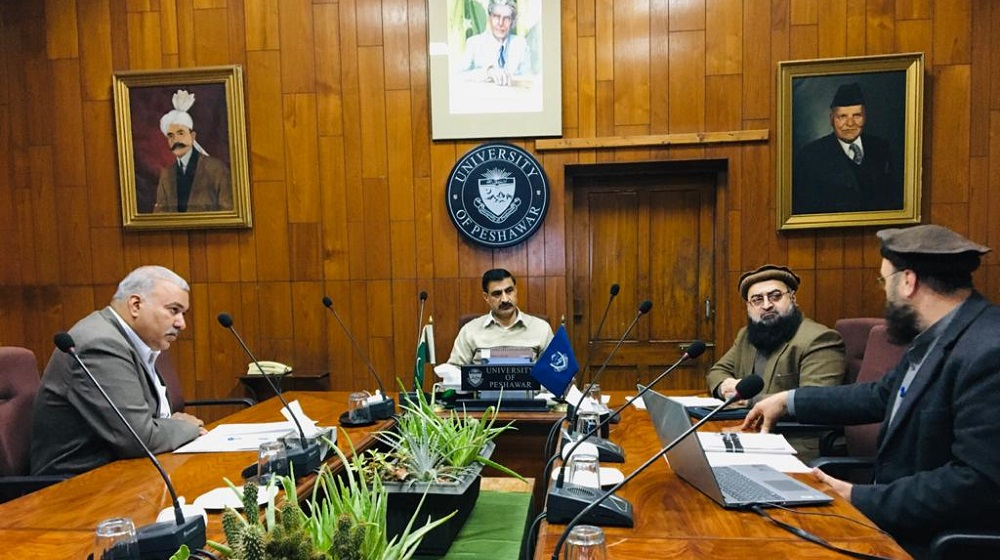 Vice Chancellor Prof. Dr. Muhammad Idrees is being briefed by Dr Ihsanullah (Camp Commander) on Bara Gali Summer Campus ( Campus II) University of Peshawar.