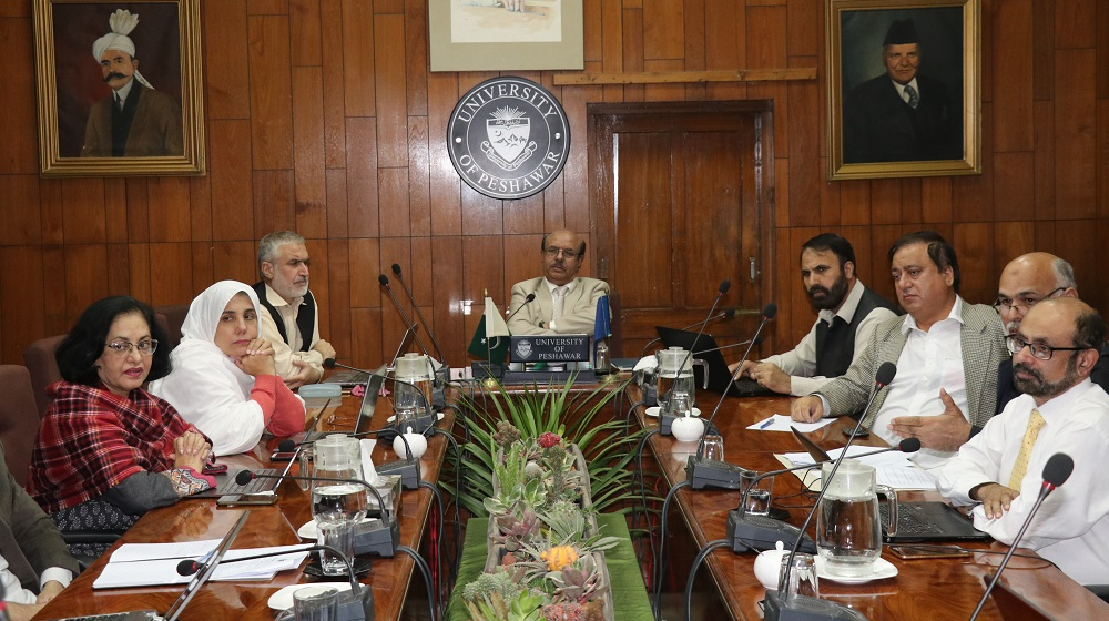 Vice Chancellor University of Peshawar is chairing the Advanced Studies & Research Board on 13th November, that saw the passage of eight  PhD proposals,along with the approval of MPhil synopsis cases in the meeting.