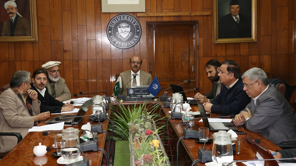 Vice Chancellor University of Peshawar is heading the meeting of Advanced Studies & Research Board on 23rd December, 2019 that saw the passage of PhD proposals and endorsement of the minutes of mini-ASRBs faculties.