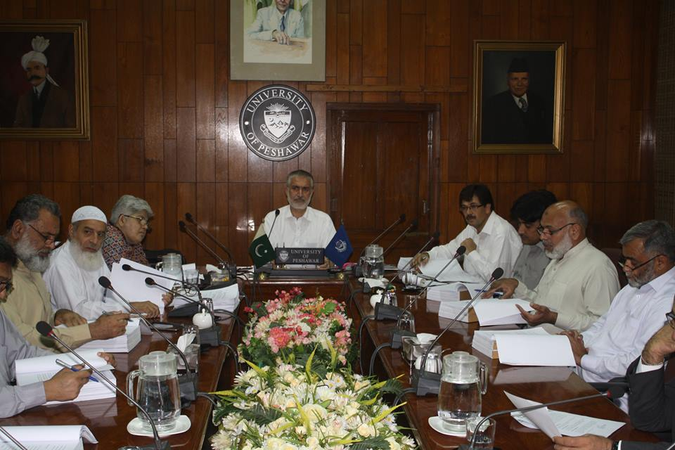 Pro-Vice Chancellor UoP Prof. Dr. Muhammad Abid chairing meeting of the Advance Studies & Research Board