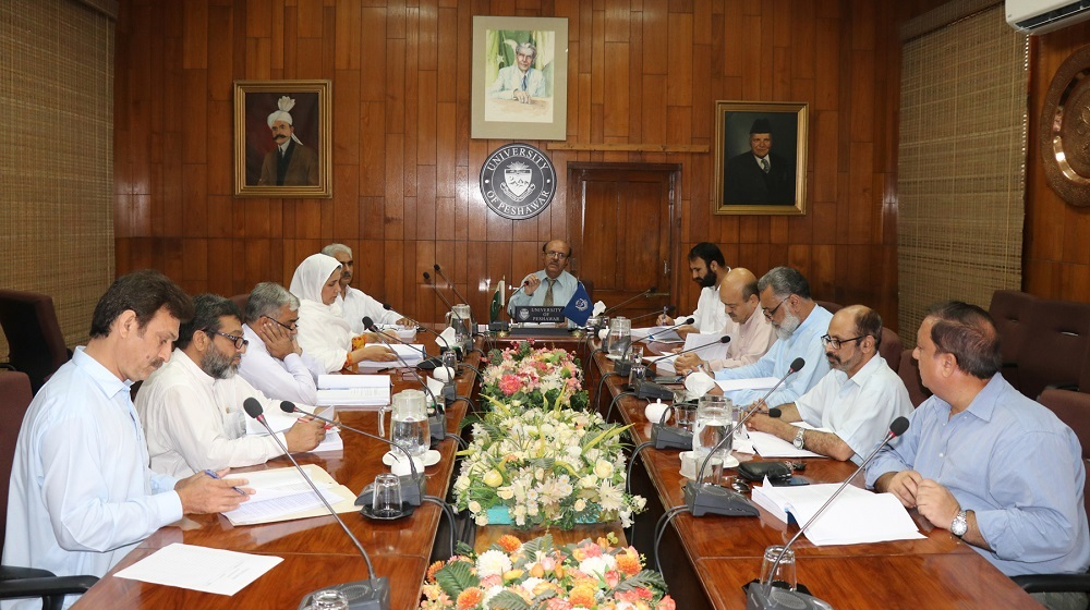 The Vice Chancellor University of Peshawar Prof. Dr. Muhammad Asif khan is chairing a meeting of Advanced Studies & Research Board on Thursday 12th July,along with Deans and members of ASRB