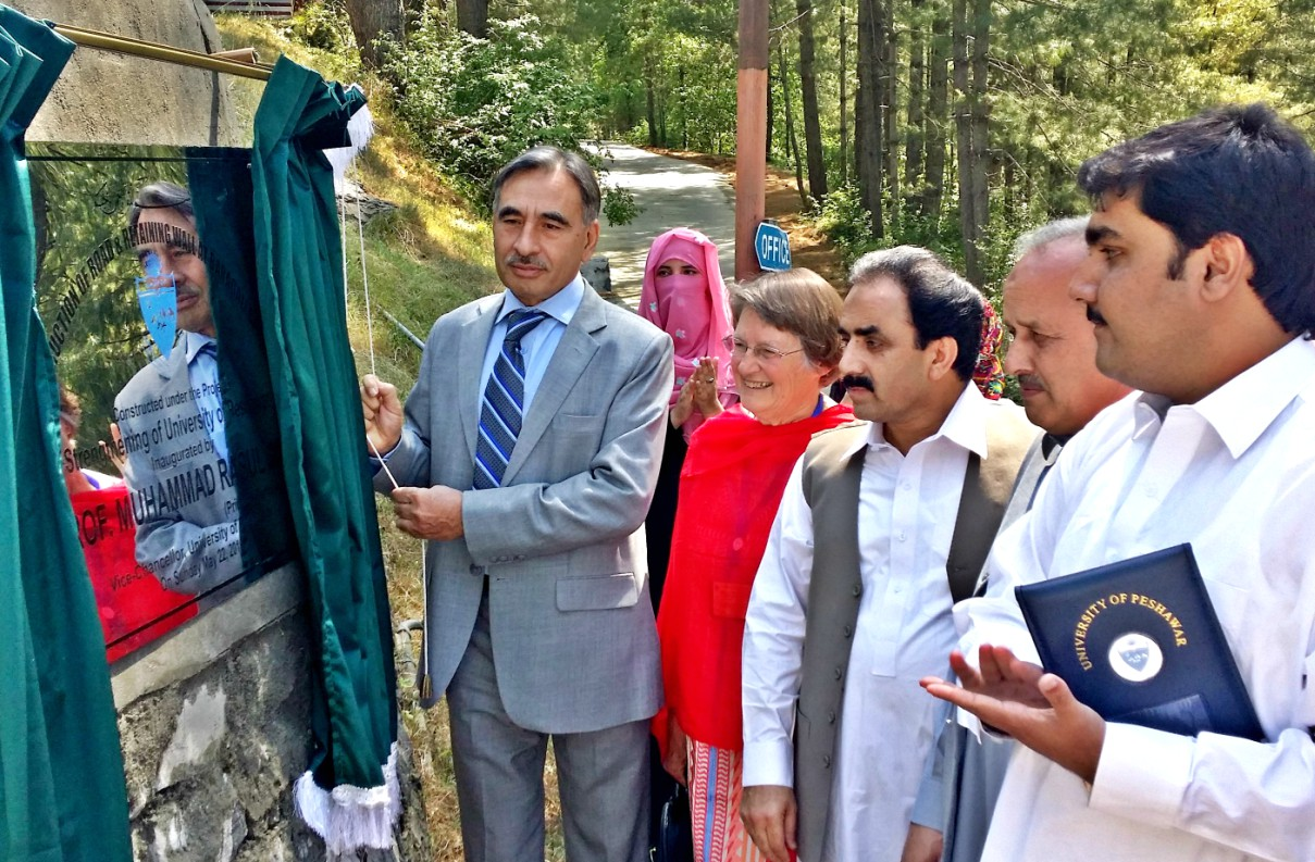 Vice Chancellor UoP Prof. Dr. Muhammad Rasul Jan inaugurating Road at the Bara Gali summer campus of the University of Peshawar