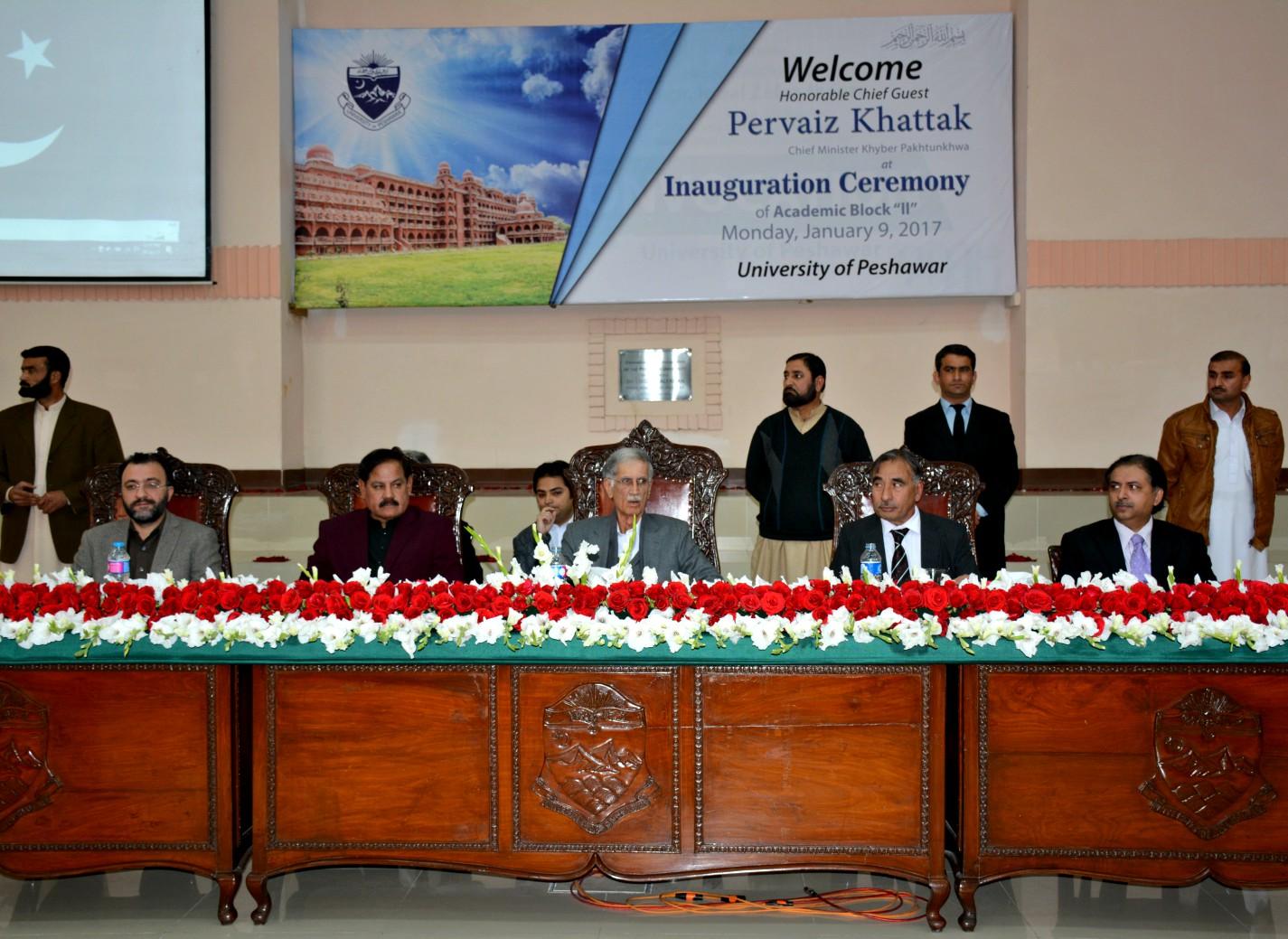 Chief Minister Khyber Pukhtunkhwa Mr. Pervez Khatak visit to UoP