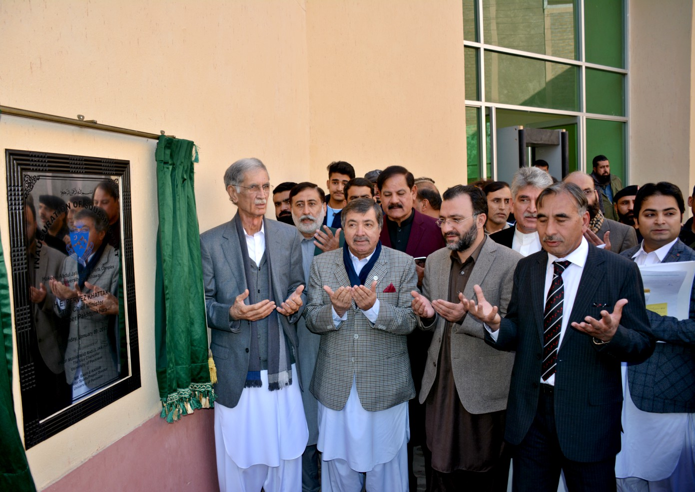 Chief Minister Khyber Pukhtunkhwa Mr. Pervez Khattak Inaugurating Squash Court at Directorate of Sports, University of Peshawar