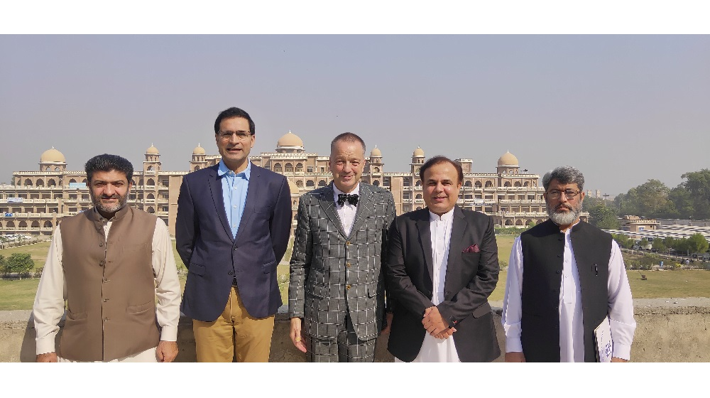 German Ambassador to Pakistan Bernhard Schlagheck visits University of Peshawar.