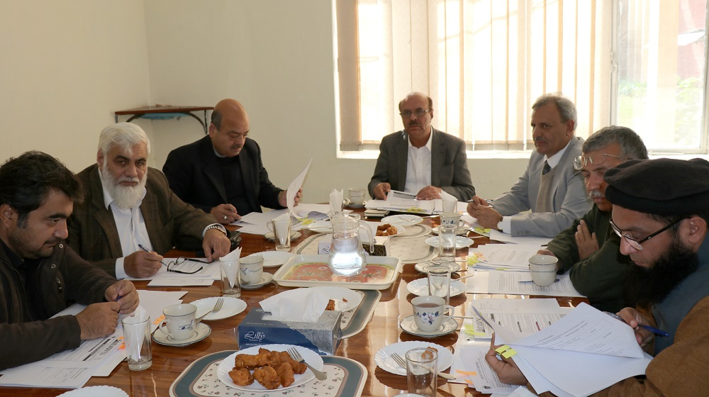 Vice Chancellor UoP Prof. Dr. Muhammad Asif Khan chairing meeting of the selection board of Area Study Centre, UoP