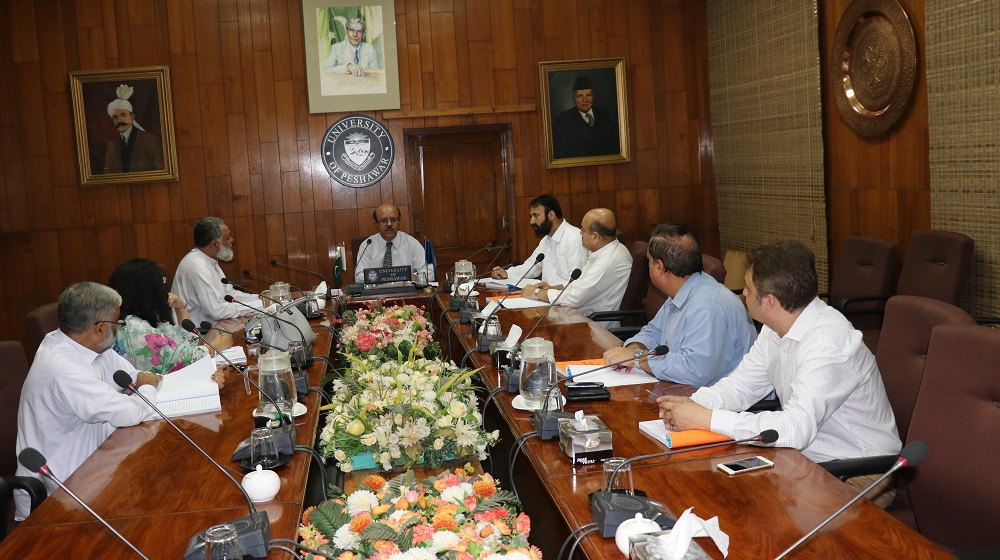 A meeting of Advanced Studies & Research Board (ASRB), University of Peshawar is in process while reviewing the PhD proposals on Thursday, 16th August, 2018