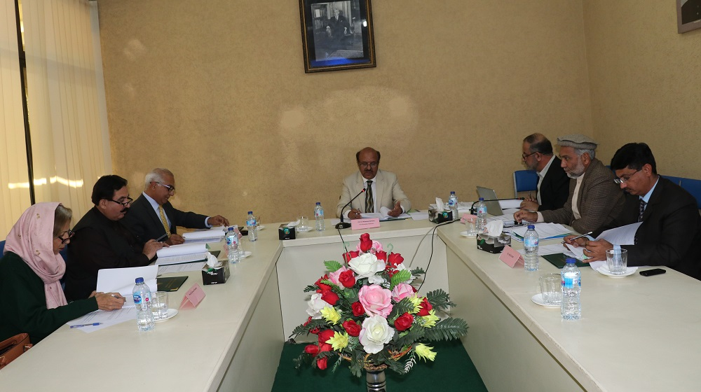 Vice Chancellor University of Peshawar is presiding over the 'BoG' meeting of Pakistan Study Centre on 18th February, 2020.