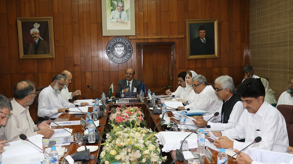 The Vice Chancellor UoP, Prof. Dr. Muhammad Asif Khan is chairing the second leg of the 428th Syndicate on 15th August that  earlier met on 5th  July, to discuss and review the remaining agenda items on the list.