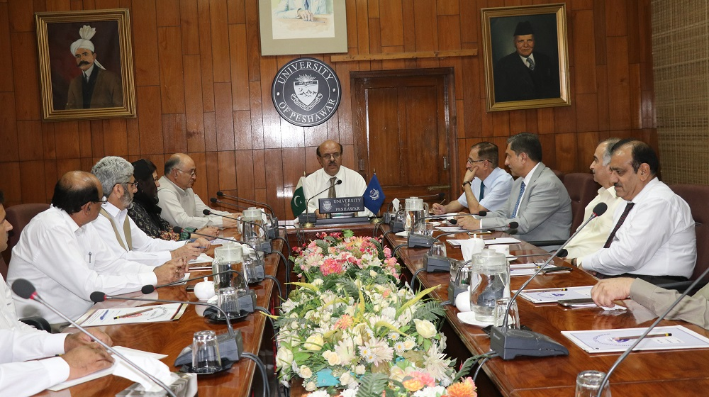 The Vice Chancellor University of Peshawar Prof.Dr.Muhammad Asif Khan is holding an emergency meeting of public sector universities vice chancellors' for holding  consultation on a recent 'HED' notification on 29th August, 2019.
