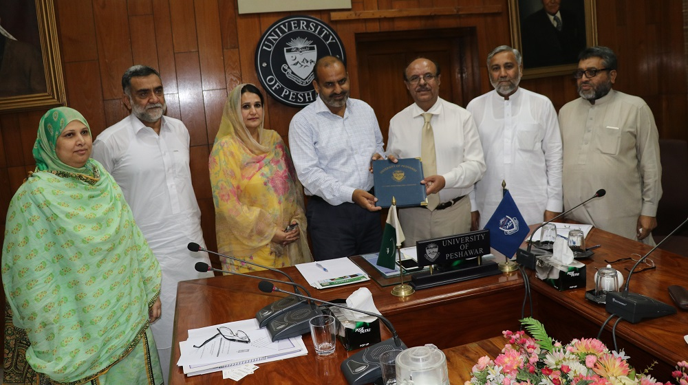 University of Peshawar is exchanging  MoU accord with 'Parwan'  also known as  Children Global  Network on 5th September, 2019. Both Organisations will work for early child development  through course development in associate degree program  through  the Institute of Education and Research.