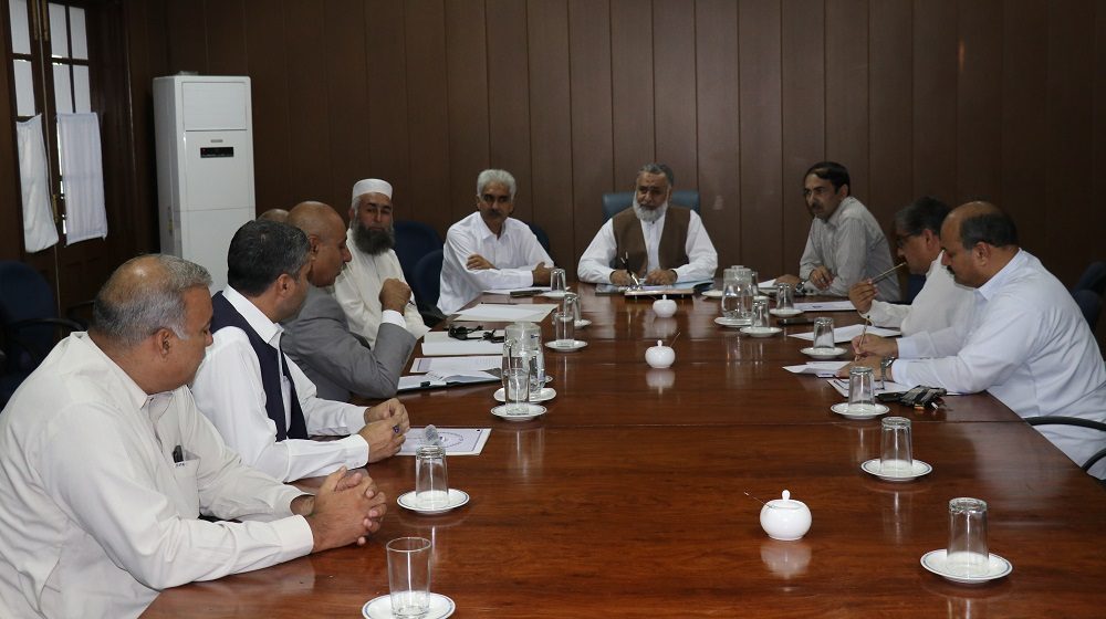 The first meeting of the grievance committee is deliberating after a detailed presentation from the Provost University of Peshawar on 9th October, in committee room II.