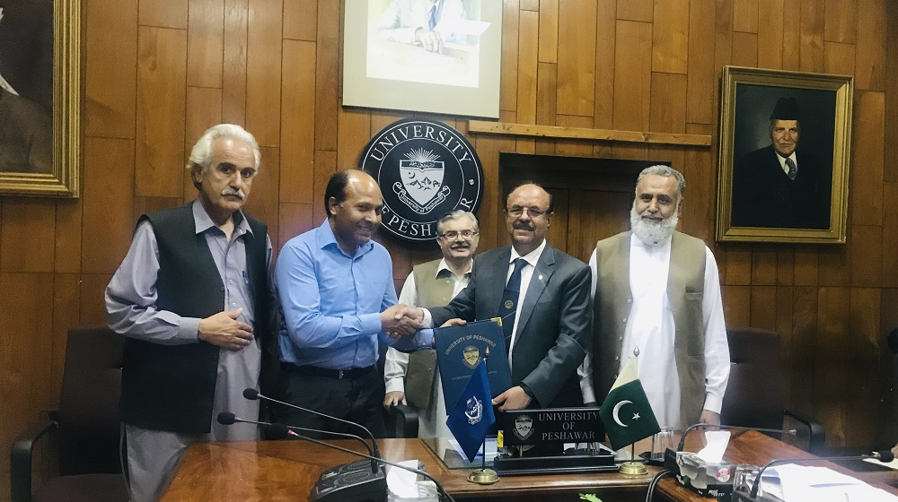 University of Peshawar has entered in to a memorandum of understanding  with 'Foundation lit' to work closely with Pashto Academy for publication of Children and Folk literature in English and applications development to enhance book reading culture on 3rd April, 2019.