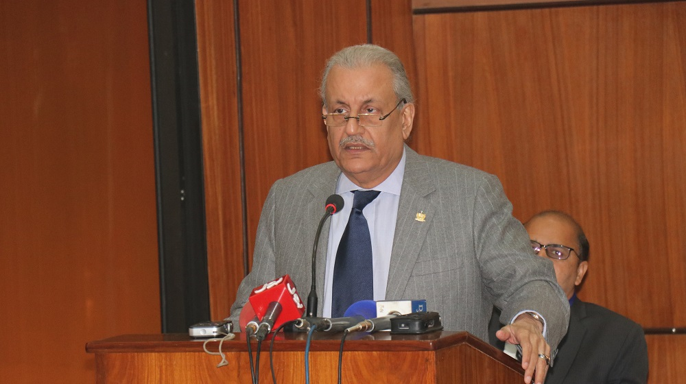 Senator Mian Raza Rabbani is delivering a key note speech on the role of 1973 constitution in safeguarding the interests of federal  parliamentary system and institutions buildup at the international conference  organised by department of History ,University of Peshawar on 26th November, 2018.