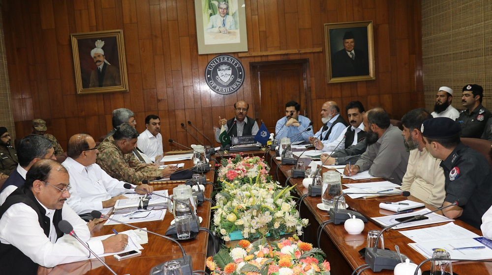 A high level meeting of Campus Coordination Committee is being held on Friday, 13th April under the chair of Vice Chancellor, University of Peshawar to collaborate the mutual efforts in strengthening security, traffic and safety arrangements of greater campus of University of Peshawar