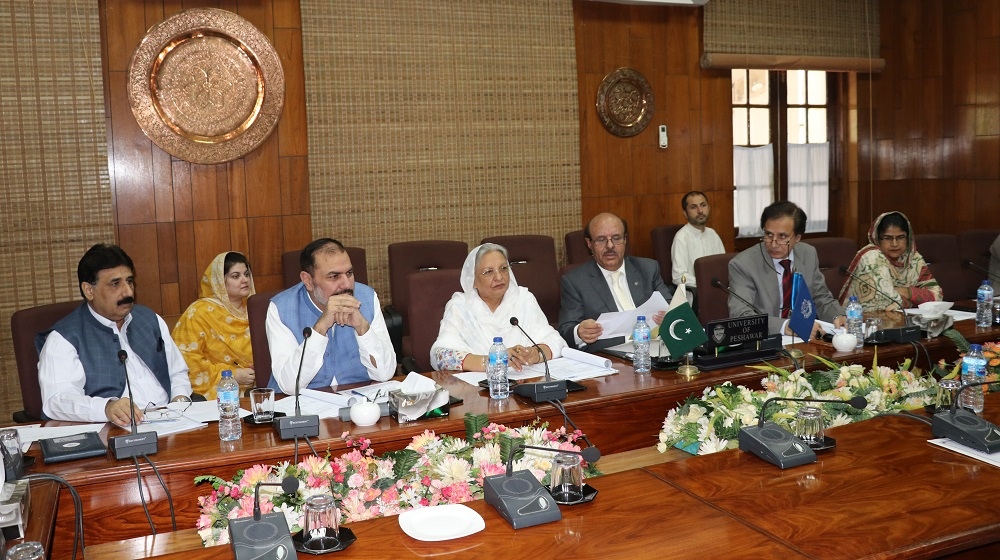 The Vice Chancellor University of Peshawar Prof.Dr.Muhammad Asif Khan is presiding and conducting the selection board on 3rd October, 2019 for the various teaching post along with members of selction board at committee room I.
