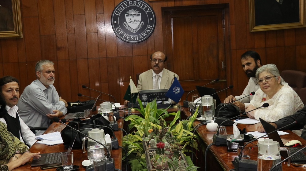 Vice Chancellor University of Peshawar Prof.Dr. Muhammad Asif Khan is chairing the Advanced Studies and Research Board meeting on 16th October, that saw the passage of 16 PhD proposals.