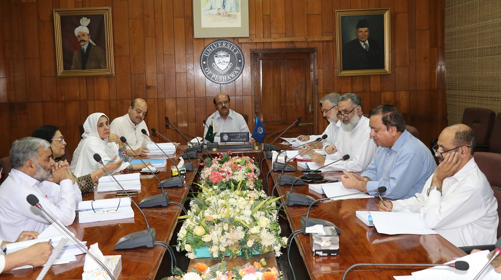 A meeting of Advanced Studies Research Board (ASRB) University of Peshawar is in process while reviewing the PhD proposals on Tuesday 06.06.2018