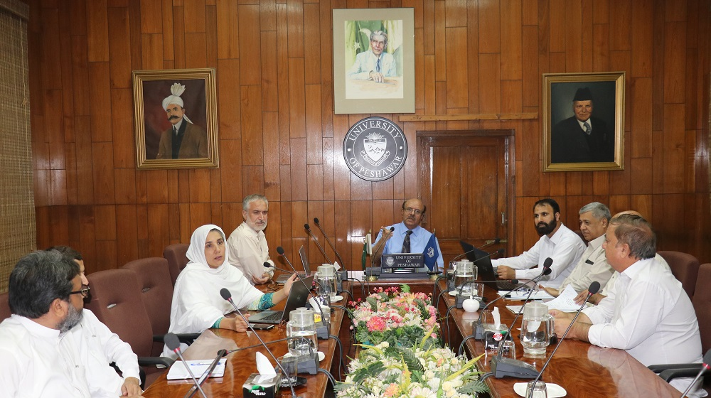 Vice Chancellor University of Peshawar is chairing the proceedings  of Advanced Studies & Research Board on 3rd July that saw the passage of 21 Phd proposals and approval of two faculties sub-committees minutes.