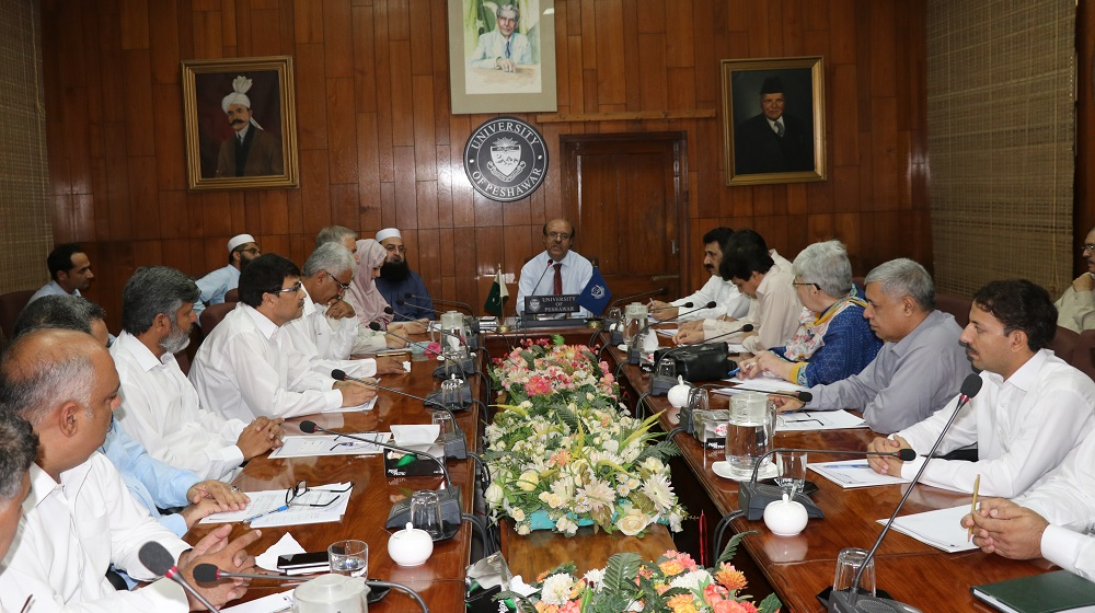 The Vice Chancellor University of Peshawar Prof.Dr.Muhammad Asif Khan is chairing a meeting of all relevant stakeholders on current financial crunch on 29th July, 2019 at Committee room I.