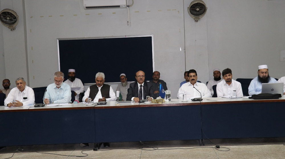 Vice Chancellor and registrar University of Peshawar are presiding an important meeting of University's affiliated colleges directors on first  August,2019 at SSAQ  to anticipate associate degree program  launching preparations.
