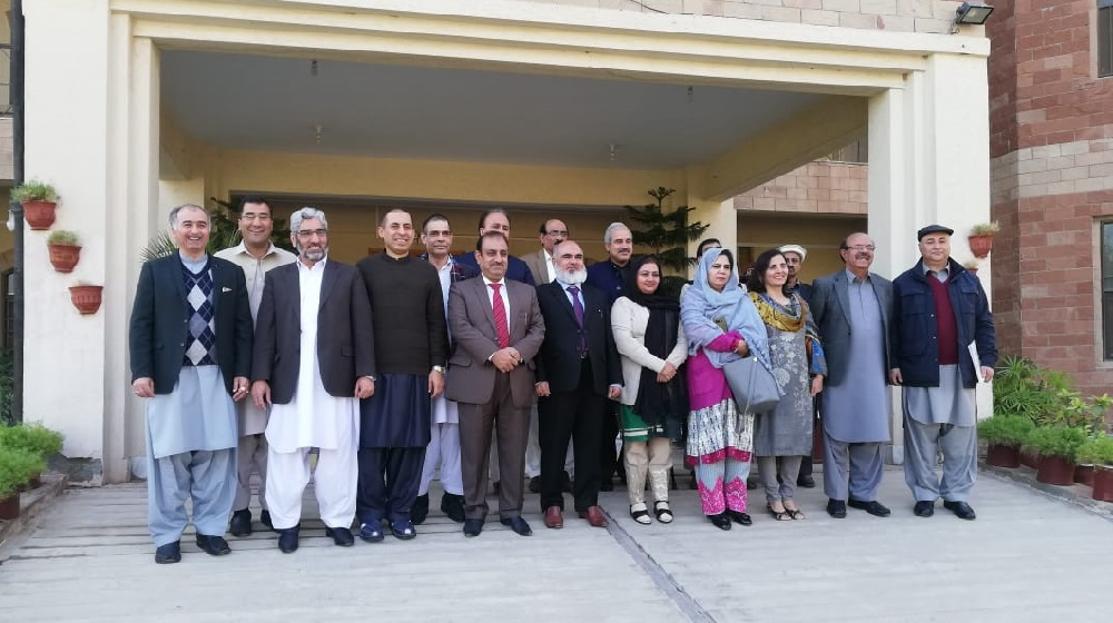 The Vice Chancellor University of Peshawar Prof. Dr. Muhammad Asif Khan is participating in the Khyber Pakhtunkhwa  Vice chancellors' Conference at the Kohat University of Science & Technology on 7th December, 2018.