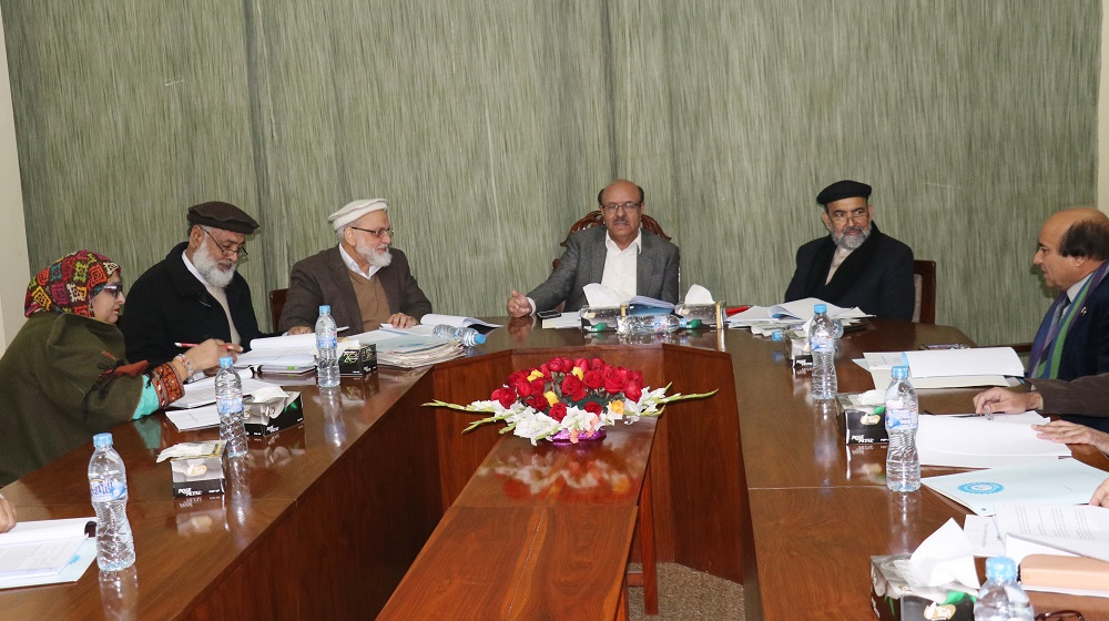 The Vice Chancellor University of Peshawar Prof. Dr. Muhammad Asif Khan  is chairing Board of governors meeting of Sheikh Zayed Islamic Centre, University of Peshawar on 25th January, 2019