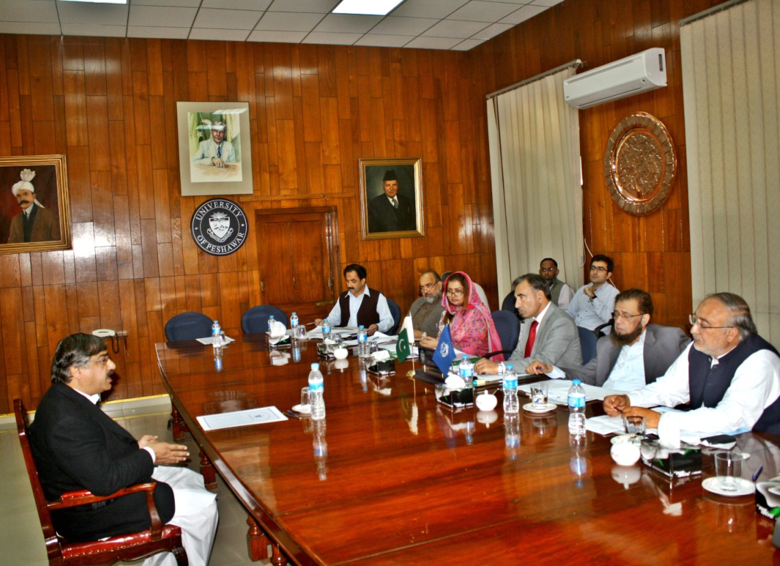 Vice Chancellor UoP Prof. Dr. Muhammad Rasul Jan chairing meeting of the selection board of the University of Peshawar