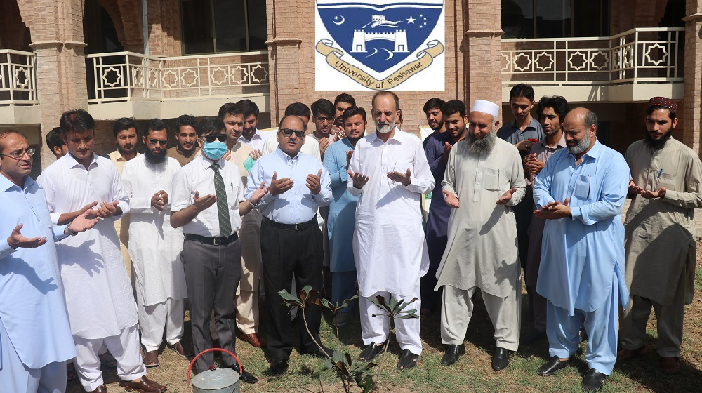 Pak-China Friendship Tree Plantation Campaign helds at University of Peshawar to Commemorate China's National Day.
