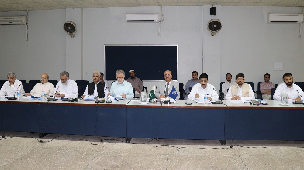 The Vice Chancellor University of Peshawar Prof. Dr. Muhammad Asif Khan is presiding over the meeting of Academic Council on Wednesday to overview the academic programs, regulations and courses of the University