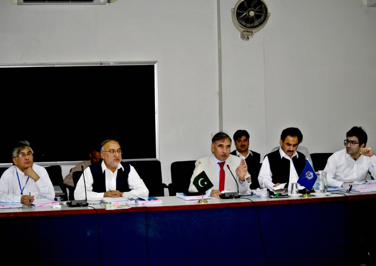 Vice Chancellor UoP Prof. Dr. Muhammad Rasul Jan chairing meeting of the Academic Council of the University of Peshawar